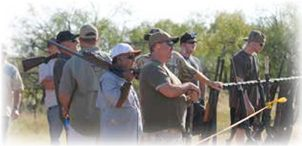 Dove Hunters with Guns